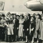 Встреча артистов в  аэропорту Бурже, г.Париж, апрель 1961 г.