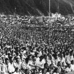 Танцевальная группа исполняет корейский танец «Онхея», 1956 г.