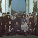 У Триумфальной арки с корейскими товарищами, Пхеньян, 1984 г.