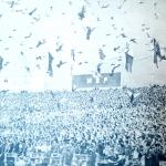 «Голуби мира» над стадионом имени Вальтера Ульбрихта