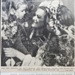 Цветы после концерта от немецкой девочки (из немецкой газеты)