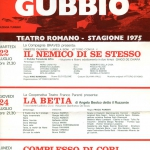 Реклама концерта, г. Губбио