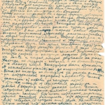 Письмо Л.Л. Христиансена к А.М. Левиной, 1945 г.