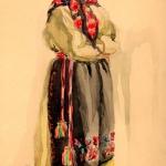 Эскиз первых костюмов
